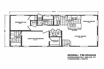 2 Section Tiny Homes Tw 20583a Wholesale Manufactured Homes